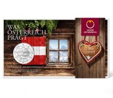 """Австрия 10 евро 2016 г., BU, """"Земли Австрии - Австрийская Республика"""""""