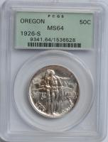 США 50 центов 1926 г. S, PCGS MS64, 'Мемориал Орегонская Тропа'