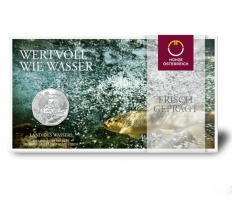 """Австрия 5 евро 2013 г., BU, """"Страна воды"""""""