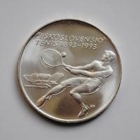 Чехословакия 500 крон 1993 г., BU, '100 лет чешскому теннису'