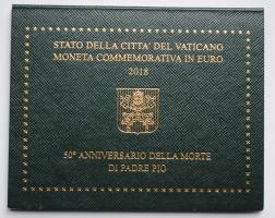 Ватикан 2 евро 2018 г., BU, '50 лет со дня смерти падре Пио'