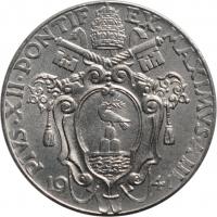 """Ватикан 20 чентезимо 1941 г., BU, """"Папа Пий XII (1939 - 1958)"""""""