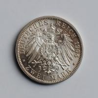 """Гессен 2 марки 1904 г., UNC, """"400 лет со дня рождения Филиппа I Великодушного"""""""