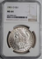 США 1 доллар 1901 г. O, NGC MS64, 'Доллар Моргана'