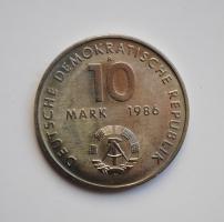 ГДР 10 марок 1986 г., UNC, '100 лет со дня рождения Эрнста Тельмана'