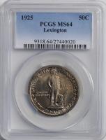 США 50 центов 1925 г., PCGS MS64, '150 лет Сражениям при Лексингтоне и Конкорде'