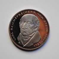 ФРГ 5 марок 1981 г., PROOF, '150 лет со дня смерти Карла фом Штейна'