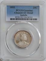 США ¼ доллара (квотер) 1893 г., PCGS AU, 'Колумбийская выставка'