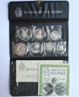 """Гвинея набор 100, 200, 250, 500 франков 1969 г., PROOF, """"10 лет Независимости"""""""