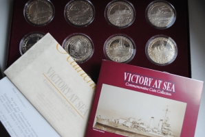 Гибралтар набор 1 крона 1993 г., BU, 'Победа в море - Военные корабли Второй мировой войны'