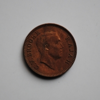 Саравак ½ цента 1933 г., XF-UNC, 'Раджа Чарльз Вайнер Брук (1917-1946)'