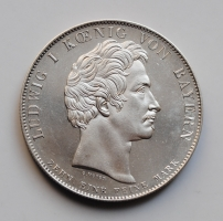 Бавария 1 талер 1825 г., UNC, 'Коронация Людвига I'