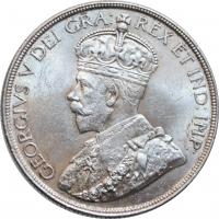 "Канада 1 доллар 1936 г., UNC, ""Король Георг V (1911 - 1936)"""