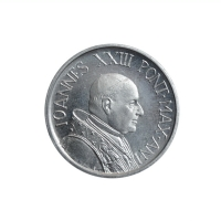 "Ватикан 5 лир 1959 г., BU PL, ""Папа Иоанн XXIII (1959 - 1962)"""