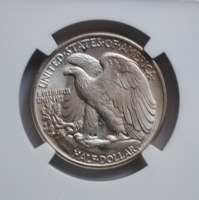 США 50 центов 1945 г., NGC MS63, 'Шагающая свобода пол доллара'