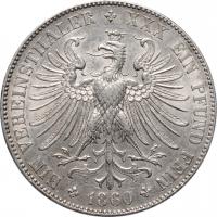 """Франкфурт 1 союзный талер 1860 г., AU, """"Вольный город Франкфурт (1807 - 1866)"""""""