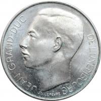 "Люксембург 100 франков 1964 г., BU, ""Великий герцог Жан (1964 - 1999)"""