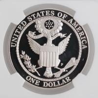 "США 1 доллар 2008 г., NGC PF69, ""Белоголовый орлан"""