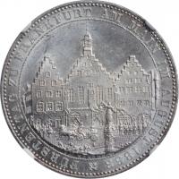 "Франкфурт 1 талер 1863 г., NGC MS63, ""Собрание князей"""