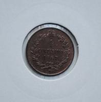 """Италия 1 чентезимо 1867 г. M, UNC RB, """"Король Виктор Эммануил II (1861 - 1878)"""""""