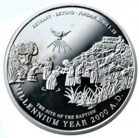 """Иордания 10 динаров 2000 г., PROOF, """"Тысячелетие и крещение Иисуса"""""""