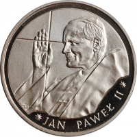 """Польша 10000 злотых 1988 г., PROOF, """"Папа Иоанн Павел II"""""""