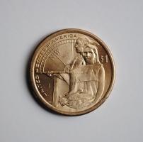 США 1 доллар 2014 г. P, UNC, 'Коренные Американцы - Гостеприимство индейцев'