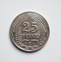 Германия 25 пфеннигов 1910 г. E, 'Германская империя (1871 - 1922)'