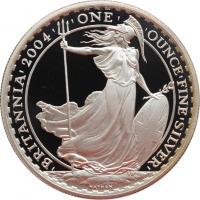 "Великобритания 2 фунта 2004 г., PROOF, ""Стоящая Британия"""