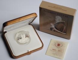 "Ватикан 10 евро 2011 г., PROOF, ""60 лет рукоположению Бенедикта XVI"""