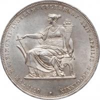 Австро-Венгрия 1 флорин 1858 г., XF, 'Император Франц Иосиф (1848 - 1916)'