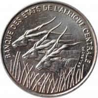 "Центральная Африка (BEAC) 100 франков 1996 г., BU, ""Франк КФА BEAC (1973 - 2019)"""