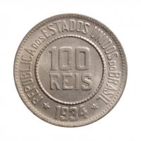 """Бразилия 100 рейсов 1934 г., BU, """"Первая Республика (1889 - 1942)"""""""