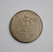 Германия 10 центов 1909 г., UNC, 'Германская колония Цзяо-Чжоу (1898 - 1914)'