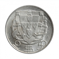 """Португалия 2.5 эскудо 1946 г., BU, """"Португальская Республика (1911 - 1969)"""""""
