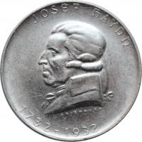 """Австрия 2 шиллинга 1932 г., AU, """"200 лет со дня рождения Йозефа Гайдна"""""""