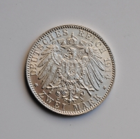 Бавария 2 марки 1914 г., UNC, 'Король Людвиг ІІІ (1913-1918)'