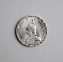 Германская Восточная Африка 1/4 рупии 1891 г., UNC, 'Король Вильгельм II (1888 - 1918)'