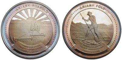 """Мадагаскар набор 10 и 20  ариари 1978 г., PROOF, """"Ф.А.О."""" ПАТИНА"""