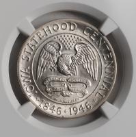"""США 50 центов 1946 г., NGC MS66, """"100 лет штату Айова"""""""