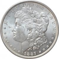 "США 1 доллар 1887 г., BU, ""Доллар Моргана"""