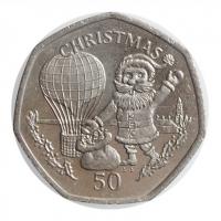 """Гибралтар 50 пенсов 1994 г., UNC, """"Рождество"""""""