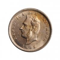 "Сальвадор 3 сентаво 1889 г., UNC, ""Республика Эль-Сальвадор (1889 - 1918)"""