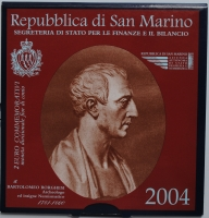 "Сан-Марино 2 евро 2004 г., BU, ""Бартоломео Боргези"""