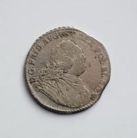 Саксония 1/6 талера 1763 г. FWoF, 'Король Фридрих Август II (1733 - 1763)'