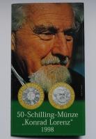 Австрия 50 шиллингов 1998 г., BU, 'Конрад Лоренц'