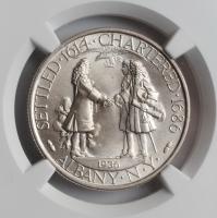 """США 50 центов 1936 г., NGC MS64, """"250 лет признанию городом Олбани"""""""