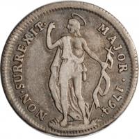 """Генуя 1 лира 1794 г., VF, """"Генуэзская Республика (1752 - 1797)"""""""