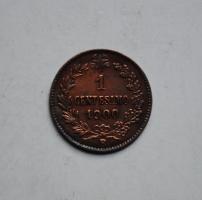 Италия 1 чентезимо 1900 г., XF-AU