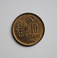 Литва 10 центов 1925 г., BU, 'Первая Республика (1925-1938)'